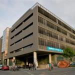 Kontorhaus am Osthafen: der Ausstellungsort von OSTEND//OSTANFANG des Stadtlabor unterwegs. Foto: hmf, S. Zelazny