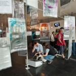Blick in die Ausstellung: Lieblingsorte im Ostend von Schülern der Uhlandschule. Foto: hmf, P. Welzel
